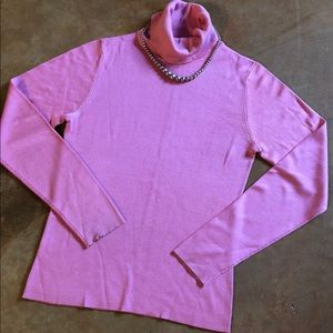 Ann Taylor Sweaters - Beautiful Bright Pink 100% Silk Sweater, size XS